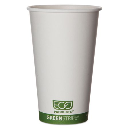 GreenStripe Renewable & Compostable Hot Cups - 16 oz., 50/PK, 20 PK/CT