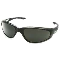 Edge Dakura TSM216 Polarized Safety Glasses, Smoke Scratch Resistant Polycarbonate Lens, Black Frame