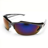 Edge Eyewear SDK118  Safety Glasses, Khor Series, Black/Blue Lens Color