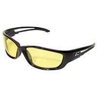 Edge Kazbek XL SK-XL112 Non-Polarized Safety Glasses, Yellow Scratch Resistant Polycarbonate Lens