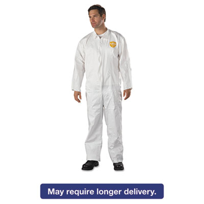ProShield NexGen Coveralls, HD Polyethylene, White, Size 2X-Large, 25/Carton