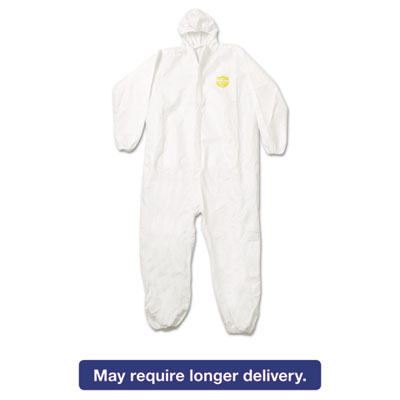 ProShield NexGen Elastic-Cuff Hooded Coveralls, White, 2X-Large, 25/Carton