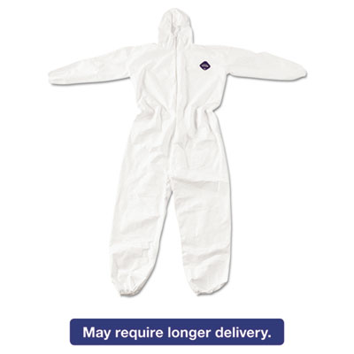 Tyvek Elastic-Cuff Hooded Coveralls, White, 4X-Large, 25/Carton