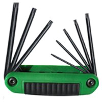 Ergo-Fold 25581 Medium Ergonomic Fold-Up Hex Key Set, 8 Pieces, 4-1/4 in L Handle