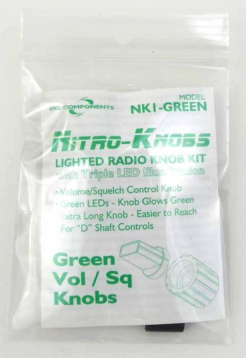 NITRO KNOB VOLUME/SQUELCH (GREEN)