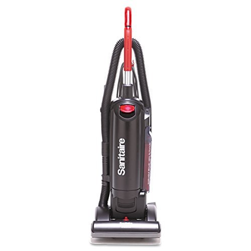 HEPA Filtration Upright Vacuum, 17 lb, Black