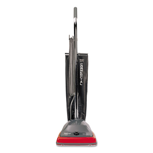 Electrolux Sanitaire Commercial Lightweight Bag-Style Upright Vacuum, 12 lbs, Gray/Red