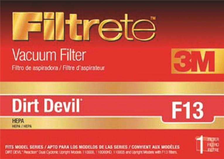 3M Filtrete Dirt Devil F13 HEPA Vacuum Filter, 1 Pack