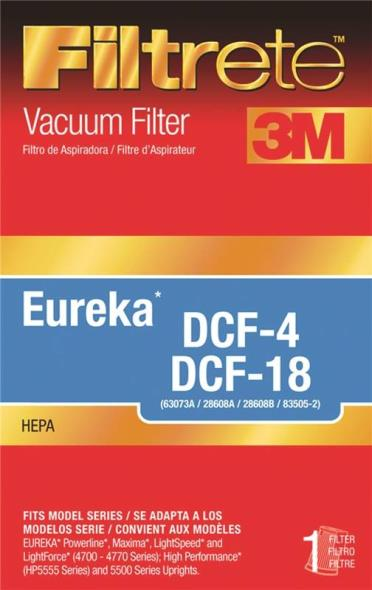 Filtrete 67814A-2 HEPA Type DCF-4/DCF-18 Vacuum Cleaner Filter
