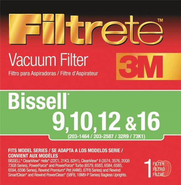 Filtrete 66809B-2 Type 9/10/12/16 Vacuum Cleaner Filter