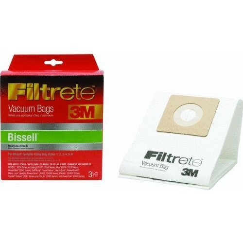 Filtrete 66707A-6 Vacuum Cleaner Bag, For Use With Bissell 3500 Series Upright Vacuums