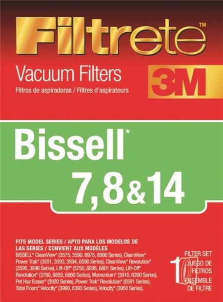 3M Filtrete Bissell 7, 8 & 14 Allergen Vacuum Filter, 1 Pack