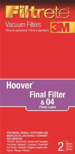 Filtrete 64802A-4 Type HF Vacuum Cleaner Filter