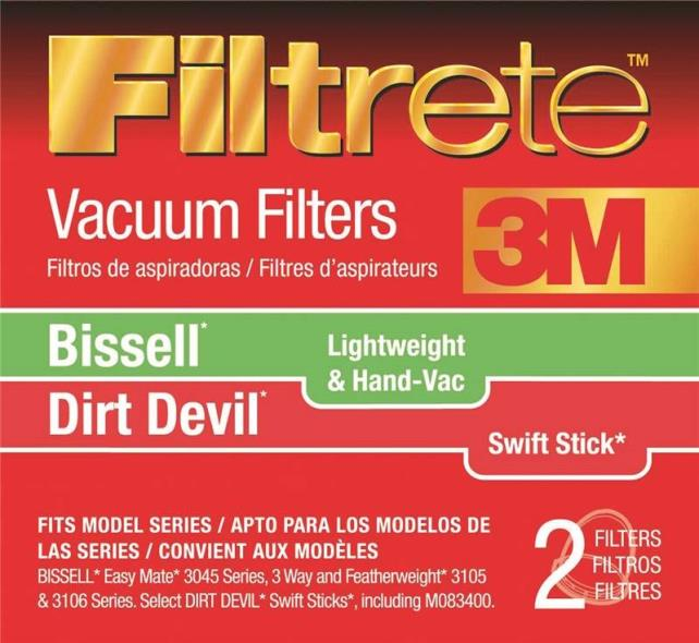 Filtrete 66829-4 Lightweight Vacuum Cleaner Filter