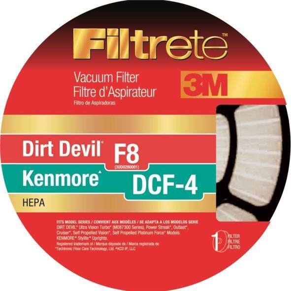 Filtrete 65808-4 Type F8 Vacuum Cleaner Filter