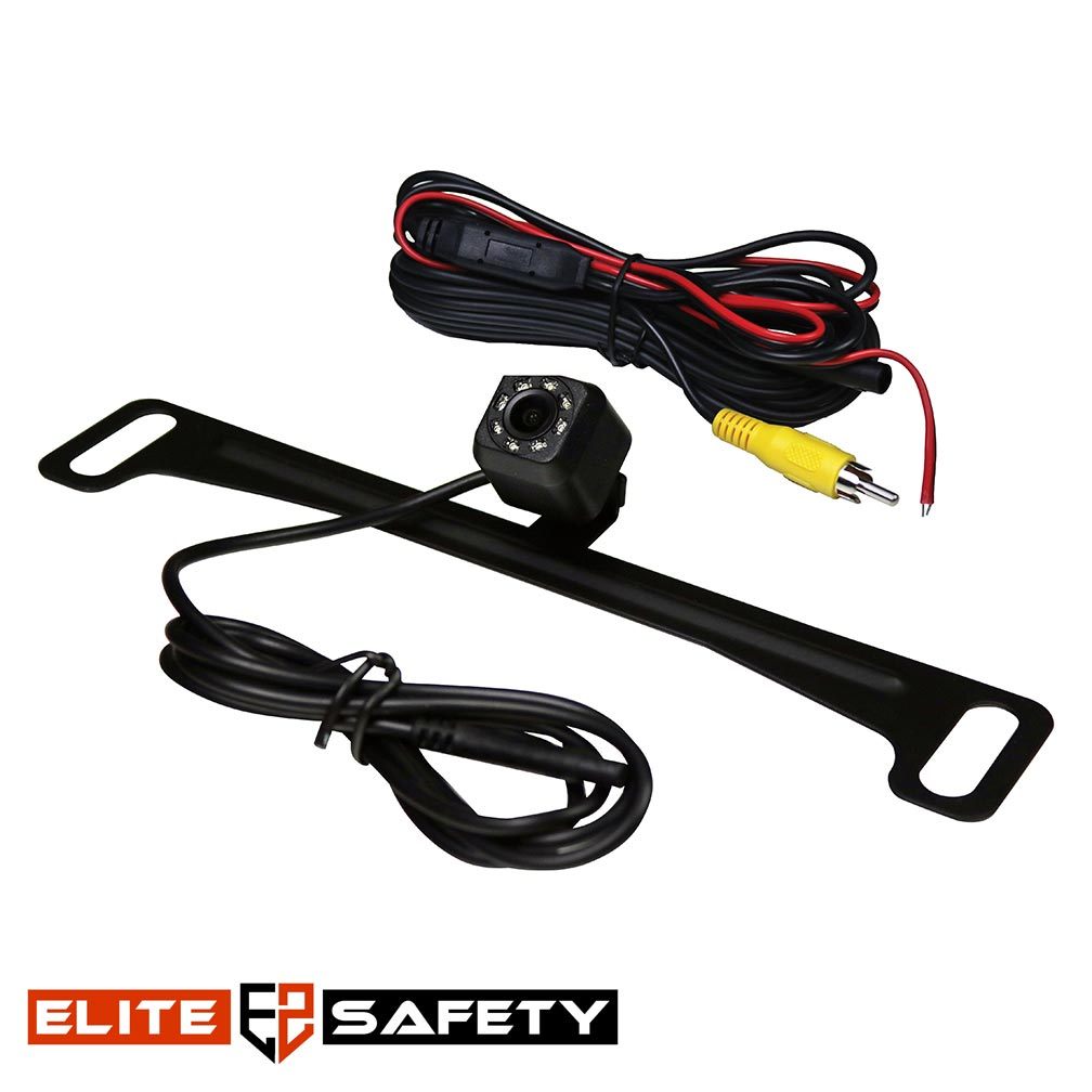 Elite Safety Dynamic License Plate Camera Black