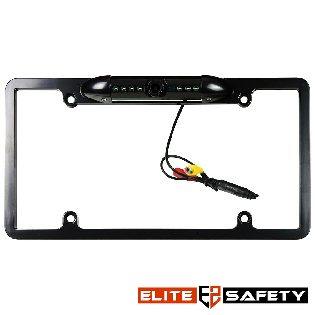 Elite Safety Full Frame License Plate Camera Black