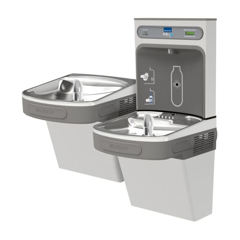 Lead Law Compliant Water Cooler Kit Vandal Resistant Stainless Steel Bi Level *ezh2o