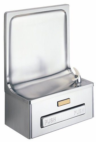 Lead Law Compliant Stainless Steel Semi Recessed Drinking Fountain
