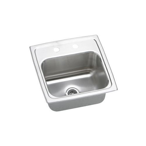 BLR15603 Gourmet Bar Sink Lustrous Satin Stainless Steel Top Mount 3 Holes