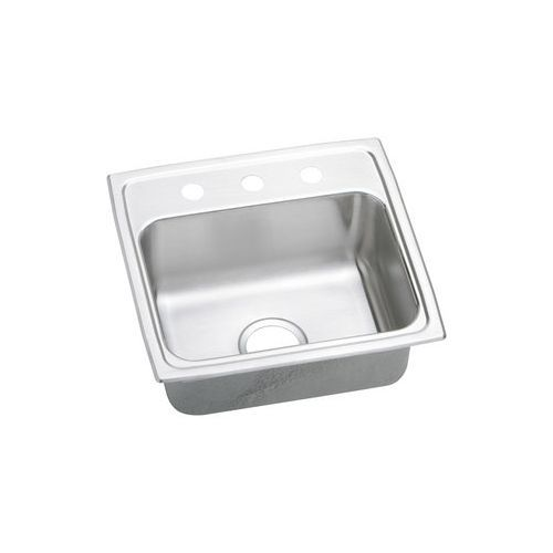 Gourmet CuVerro Antimicrobial Copper Single Bowl Top Mount Sink, Lustertone