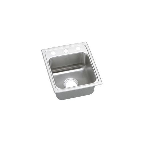 15X17X6-1/2 2 Hole Single Band ADA Stainless Steel SINK