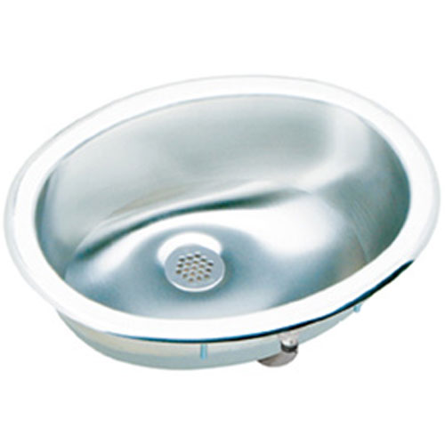 13X10 0 Hole Single Band OVAL Stainless Steel SINK *LUSTER