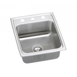 15X22X6-1/2 Three Hole ADA Stainless Steel Sink