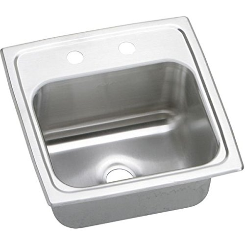 15 X 15 Three Hole Bar Sink Pacemaker Stainless Steel