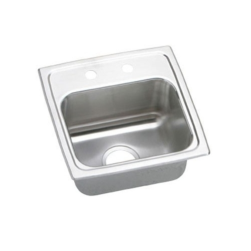 15 X 15 2 Hole Bar Stainless Steel SINK Lustertone