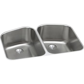 14.5X18.31 Undercounter Double Bowl Kitchen Sink Stainless Steel