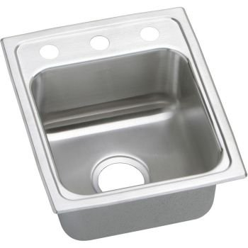 13 X 16 Three Hole Single Band Stainless Steel GOURMET SINK *LUSTER