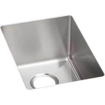 12 X 17 CROSSTOWN PREP Single Band Undercounter SINK Stainless Steel