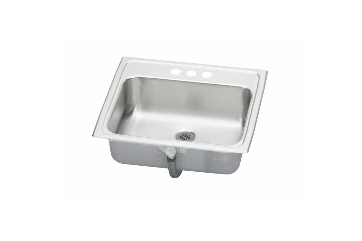 19 X 17 Three Hole Single Band Lavatory Stainless Steel SINK Pacemaker