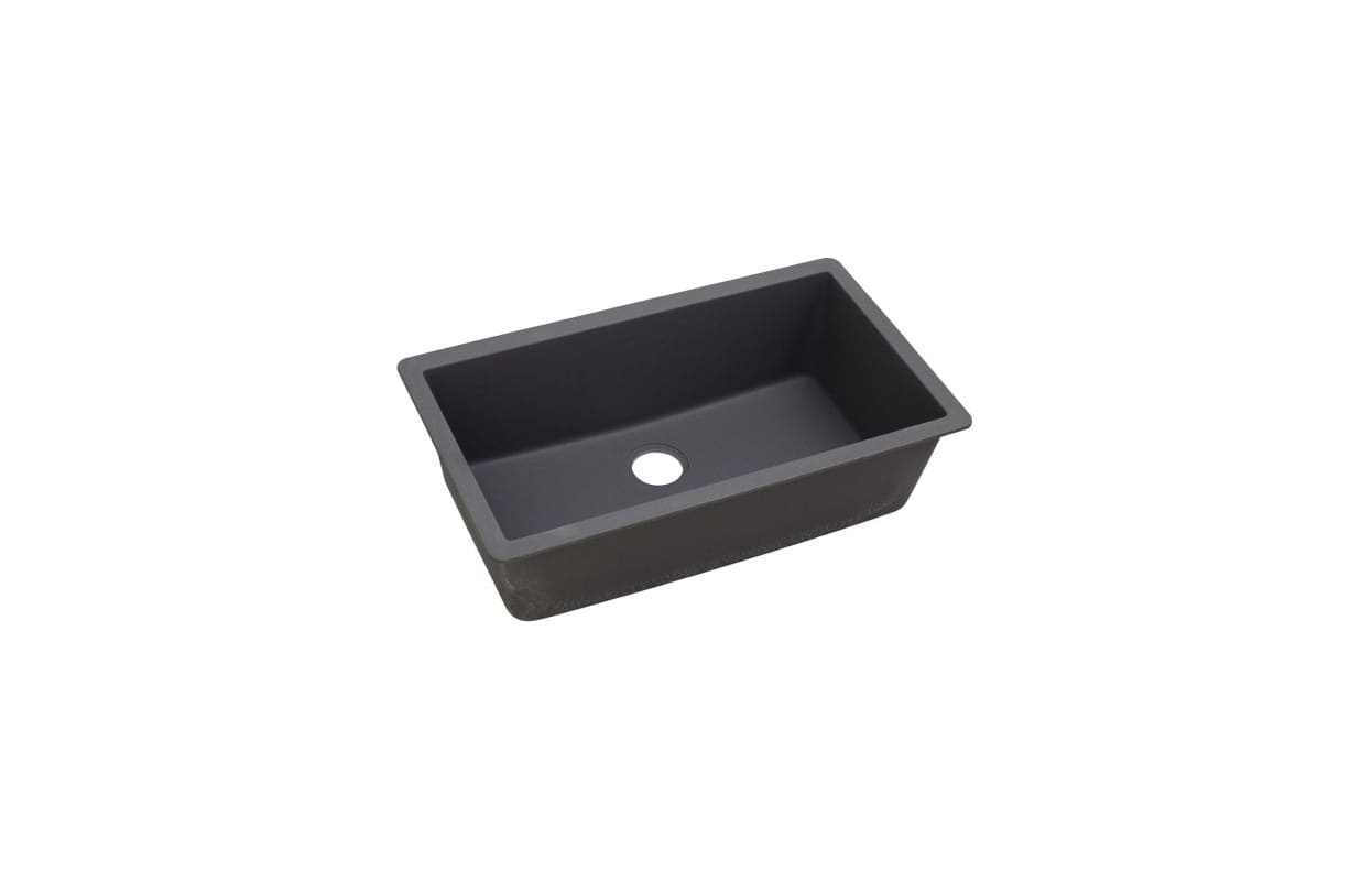 ELKAY QUARTZ LUXE 33 X 18 7/16 X 9 7/16 SINGLE BOWL UNDERMOUNT SINK CHARCOAL