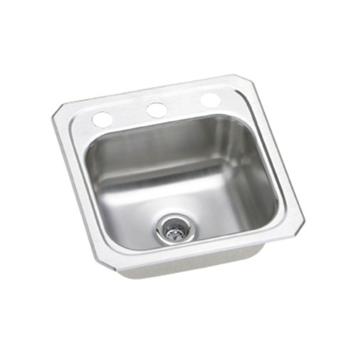 15 X 15 2 Hole Single Band Stainless Steel Bar SINK Celebrity