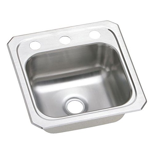 15 X 15 Three Hole Single Band Stainless Steel Bar SINK Celebrity