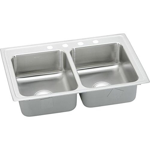 29X18X5-1/2 Three Hole Double Bowl ADA Stainless Steel Sink