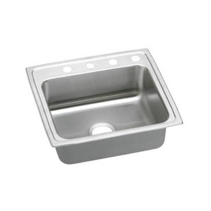 """22"""" x 19"""" x 6"""" 3 Hole 1 Bowl ADA Sink Stainless Steel"""