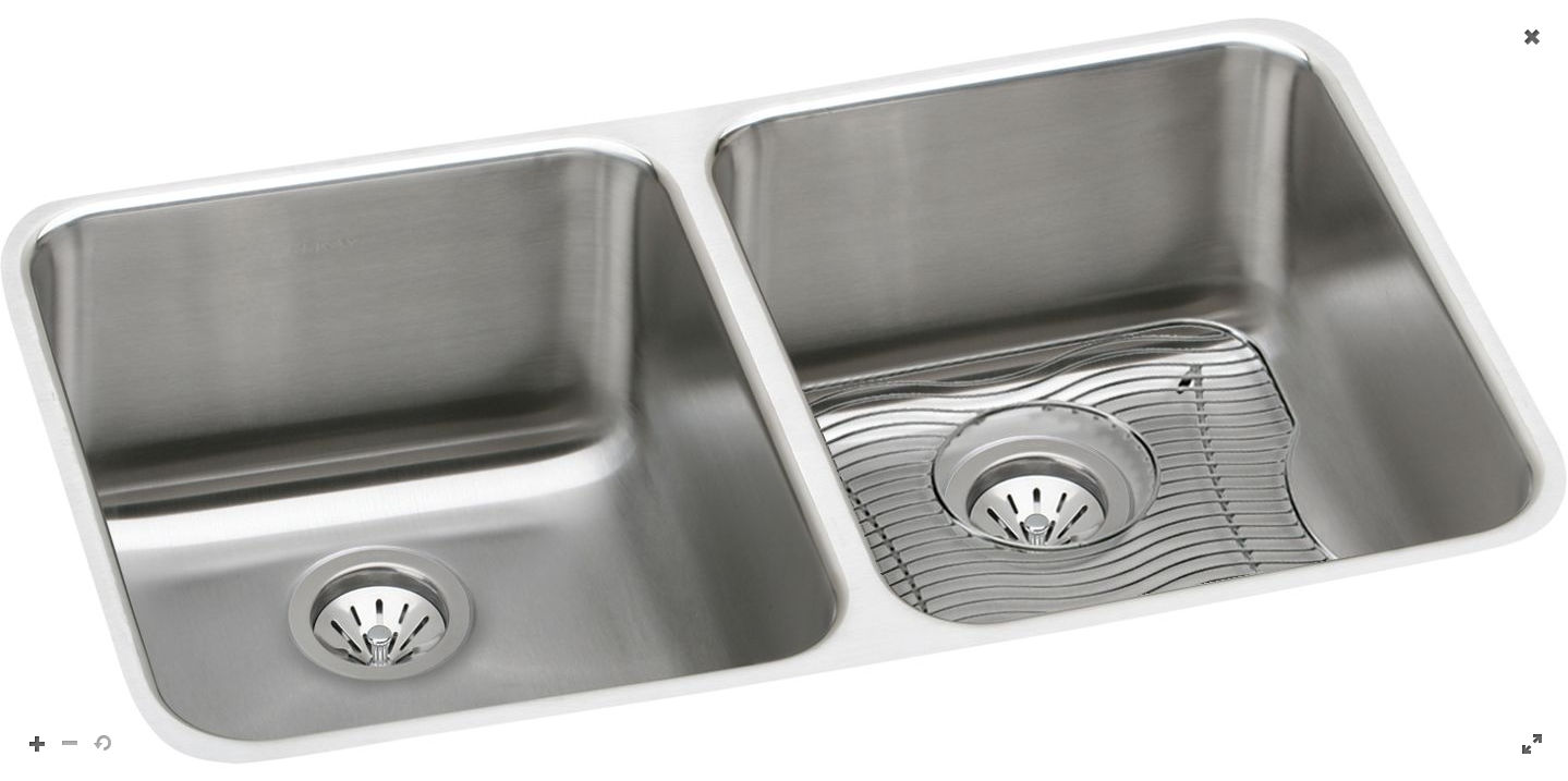 31 X 18 Double Bowl Deep Undercounter Sink Stainless Steel