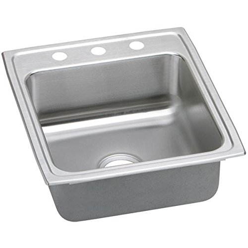 "20"" x 22"" x 6"" 3 Hole 1 Bowl ADA Stainless Steel Sink"