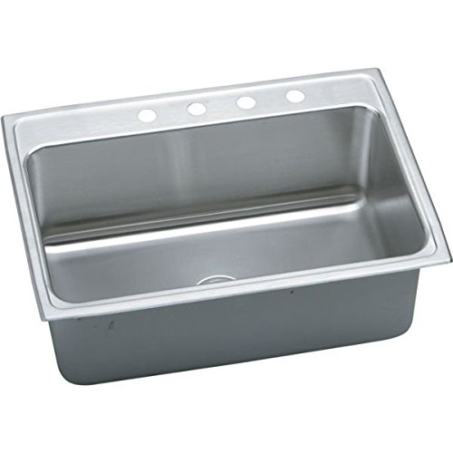31 X 22 Three Hole Single Band Deep Stainless Steel SINK Lustertone