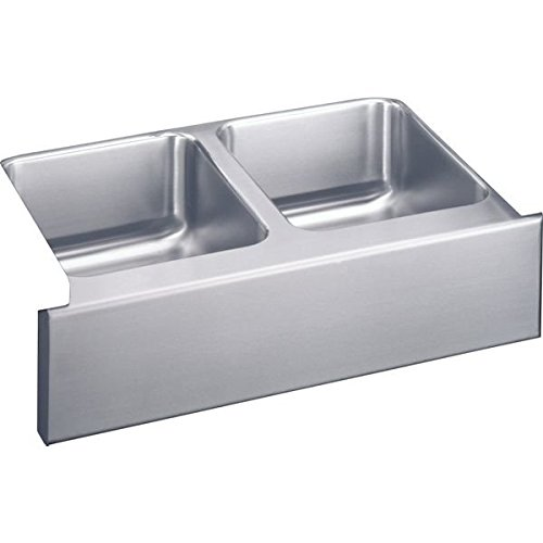 33 X 20 Double Bowl Undercounter Stainless Steel Sink Lustertone