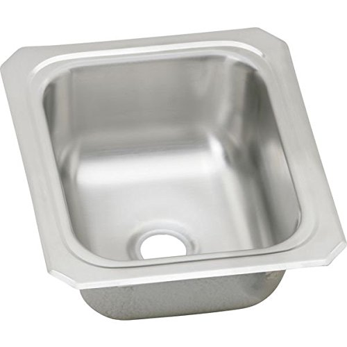 "13""x15"" 0 Hole Bar Sink Celebrity Stainless Steel"