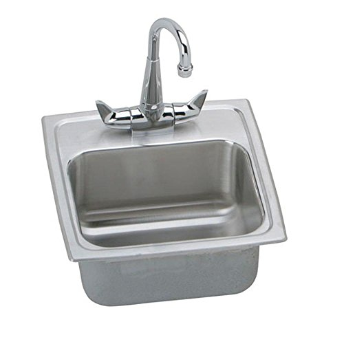 15 X 15 One Hole Bar Sink With Faucet Stainless Steel