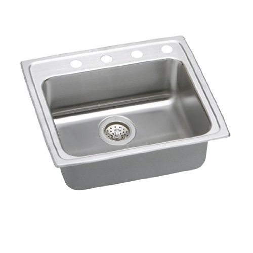 """25"""" x 21"""" x 5-1/2"""" 3 Hole 1 Bowl ADA Stainless Steel Sink"""