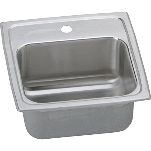 "15"" x 15"" 1 Hole Stainless Steel Hospitality Sink Lustertone"