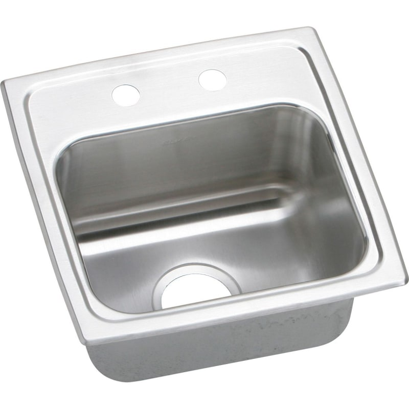"15"" x 16"" 3 Hole Bar Stainless Steel Sink Lustertone"