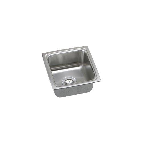 15 X 15 0 Hole Single Band Stainless Steel Bar SINK Lustertone