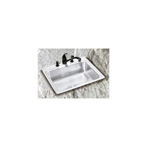 "19"" x 18"" x 5-1/2"" 3 Hole 1 Bowl ADA Stainless Steel Sink"